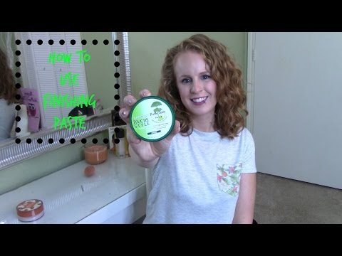 How to use finishing paste for frizz free curls!