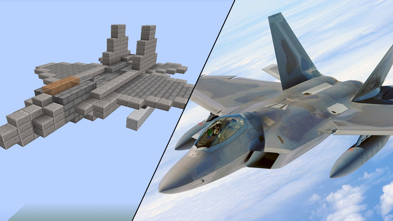 How To Build A F 22 Raptor In Minecraft Youtube