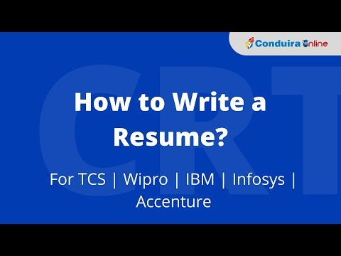 How To Write A Resume? For TCS   Wipro   IBM   Infosys   Accenture