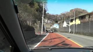 湘南海岸 逗子渚橋付近から鎌倉由比ガ浜海岸までのドライブ