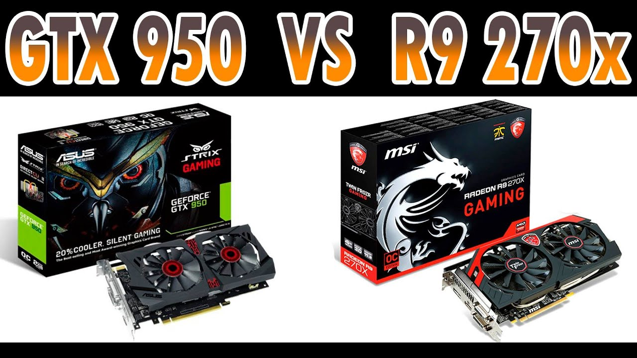 GTX 950 vs AMD R9 270x- Full HD (Desempenho em Jogos)