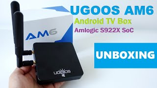 UGOOS AM6 Android TV Box powered by Amlogic S922X SoC Unboxing (Video)
