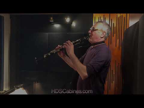 Sound isolation demonstration by a clarinetist of a custom built HDS Music Studio