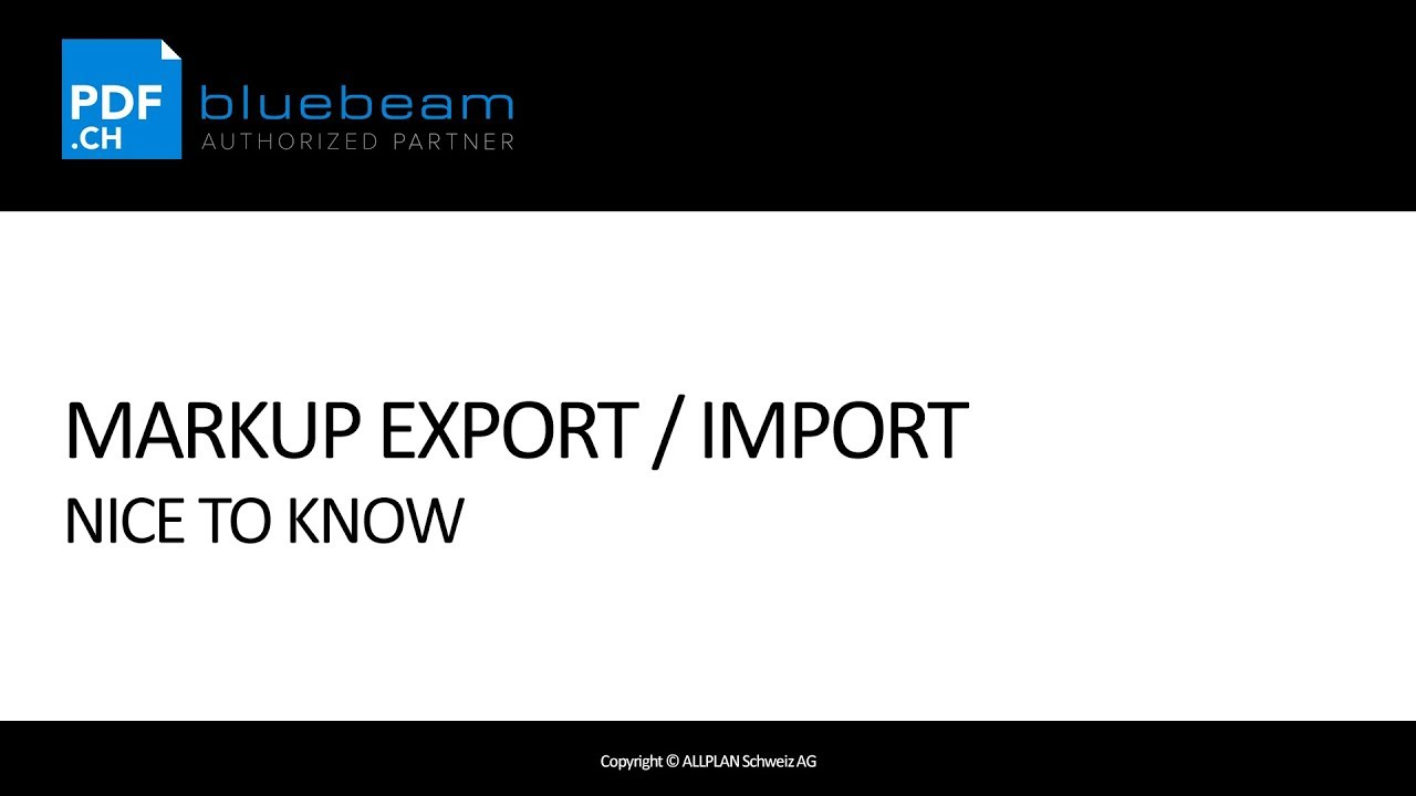 Bluebeam Revu - NTK Markup Export Import