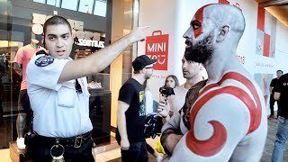 REAL LIFE GOD OF WAR (KRATOS) GETS KICKED OUT OF MALL!