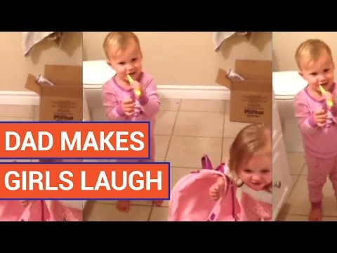 Funny Dad Makes Daughters Laugh Video 2016 | Daily Heart Beat