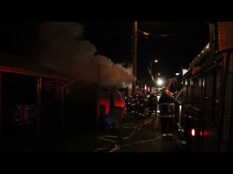 Radio Scanner: Vancouver Working Garage Fire