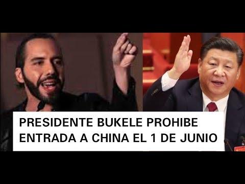 PRESIDENTE BUKELE NIEGA ENTRADA A CHINA A LA TOMA DE POSESIÓN EL 1 DE JUNIO