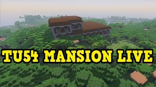 Minecraft PS4 / Xbox TU54 Woodland Mansion LIVE FIRST Attempt