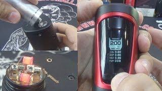 видео GeekVape GBOX Squonker Kit 200W Black-Red