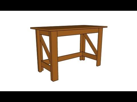 simple desk plans youtube. Black Bedroom Furniture Sets. Home Design Ideas