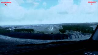 Realistic Flight Simulator X, Emirates Boeing 777 Cross Wind Landing in Anchorage