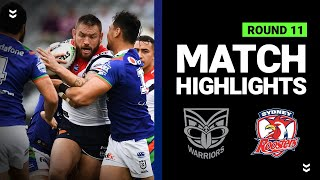 Warriors v Roosters | Round 11 2020 | Telstra Premiership | NRL