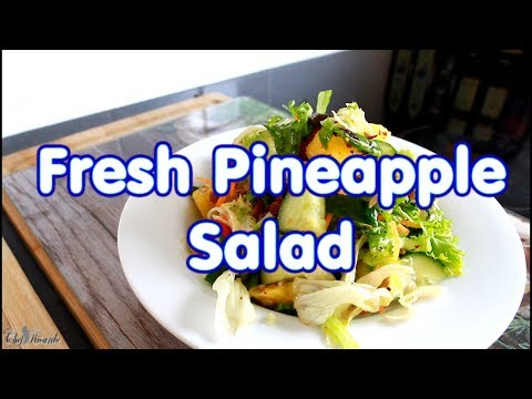 Fresh Pineapple Salad For Weight Loss Recipe For Summer !!| Chef Ricardo Cooking