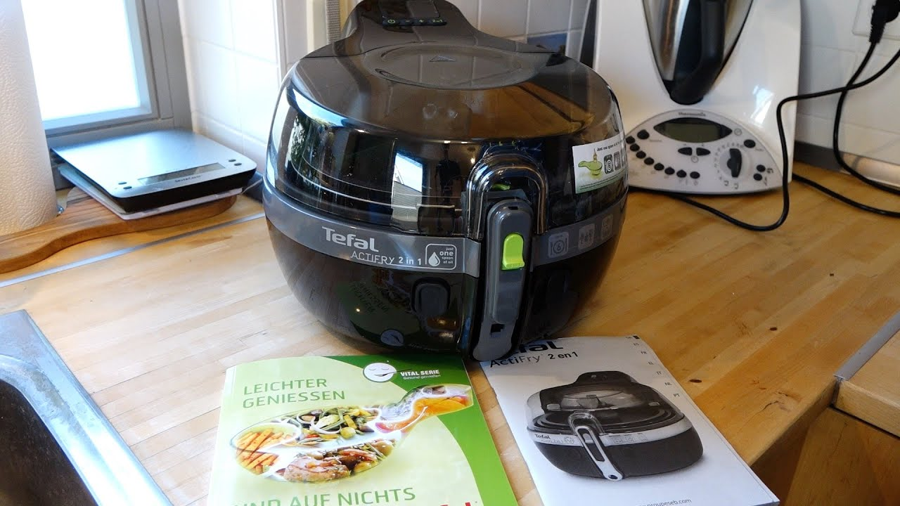 tefal actifry yv9601 2in1 hei luft fritteuse kurzreview deutsch youtube. Black Bedroom Furniture Sets. Home Design Ideas