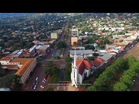 Obera, Misiones, en un minuto - a vista de drone