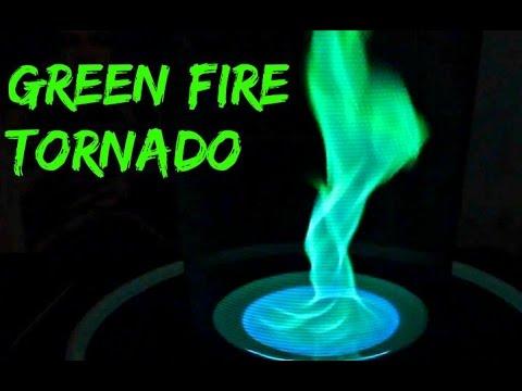 Green Fire Tornado - Science Experiment