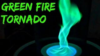 Green Fire Tornado - Science Experiment