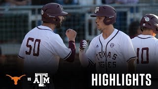 Baseball: Highlights | A&M 6, Texas 5