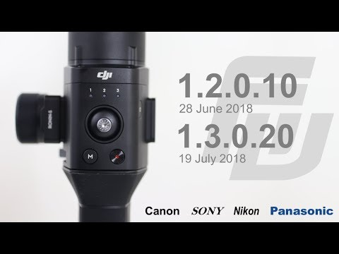 DJI Ronin-S Firmware Updates 1.2.0.10 & 1.3.0.20   Bug Fixes & New Camera Compatibility