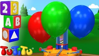 Culorile de invatare in limba engleza Masina cu baloane TuTiTu Prescolar