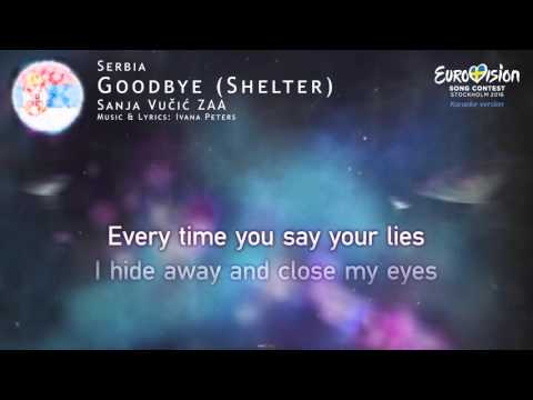 Sanja Vučić ZAA - Goodbye (Shelter) (Serbia) - [Karaoke version]