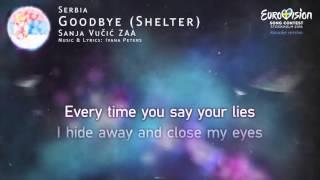 Sanja Vučić ZAA - Goodbye (Shelter) (Serbia) - [Karaoke version]