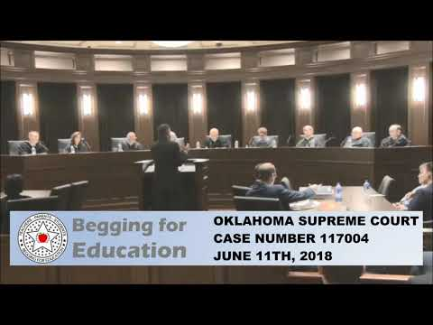 OKLAHOMA SUPREME COURT, ORAL ARGUEMENTS CASE 117004 JUNE 11TH 2018