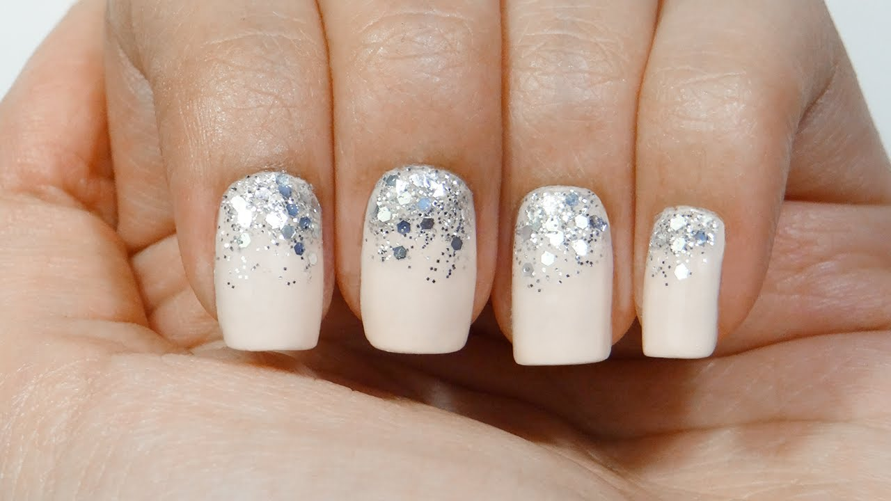 Uñas Degradado Purpurina O Gradient Glitter Nails Youtube