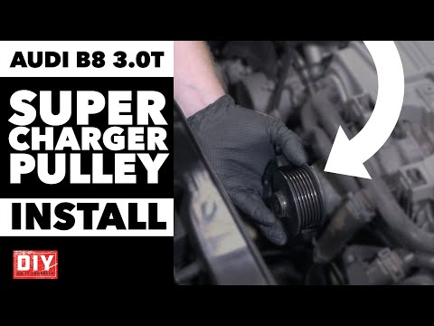 Audi B8 3.0T Supercharger Pulley Complete Install | DIY | ECS Tuning