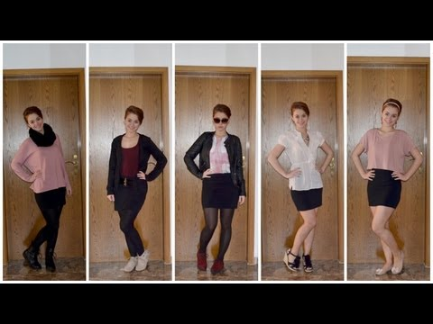 brand new 07065 1185a KOMBIWUNDER: 1 schwarzer Rock - 5 Outfits - YouTube