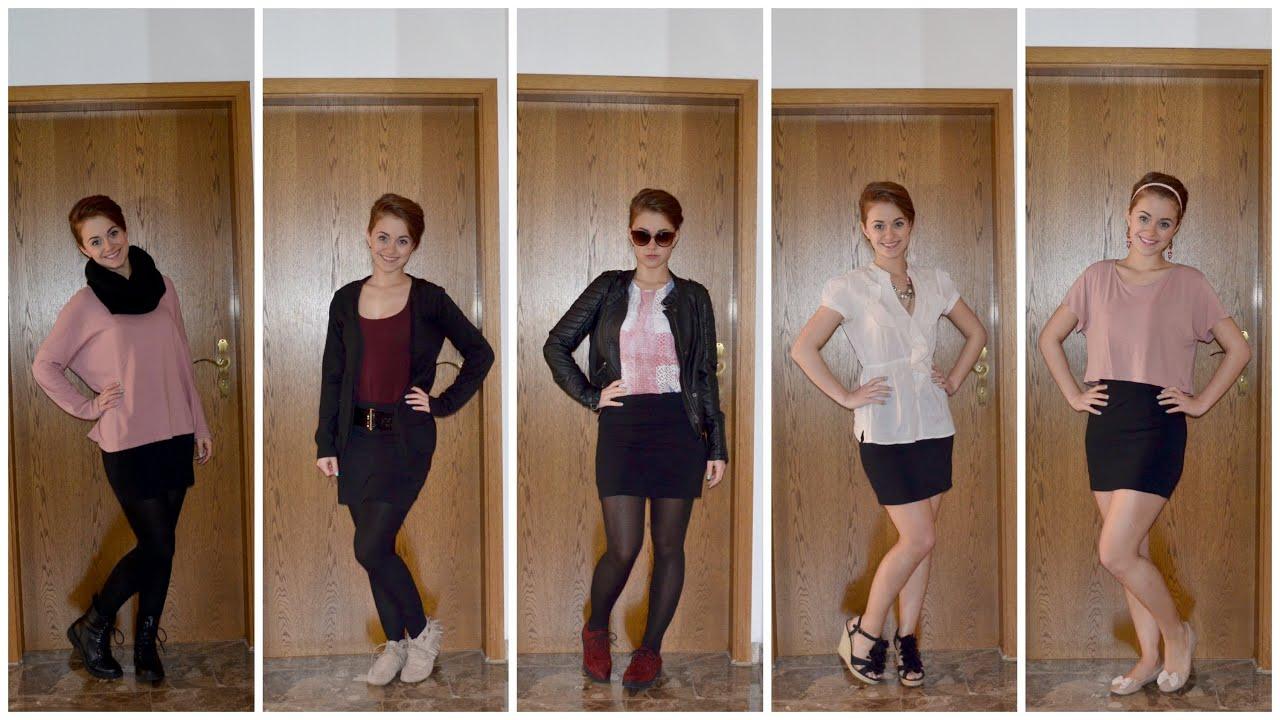 innovative design 2d957 8fc17 KOMBIWUNDER: 1 schwarzer Rock - 5 Outfits