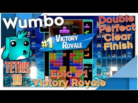 Tetris 99 - Epic #1 Victory Royale - Double Perfect Clear Finish