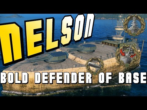 Nelson, bold defender of base! 176k dmg - World of Warships