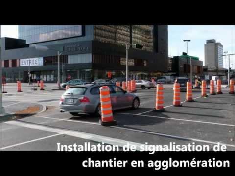 Installation de signalisation de chantier