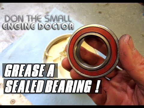 HOW-TO Grease A Sealed Bearing