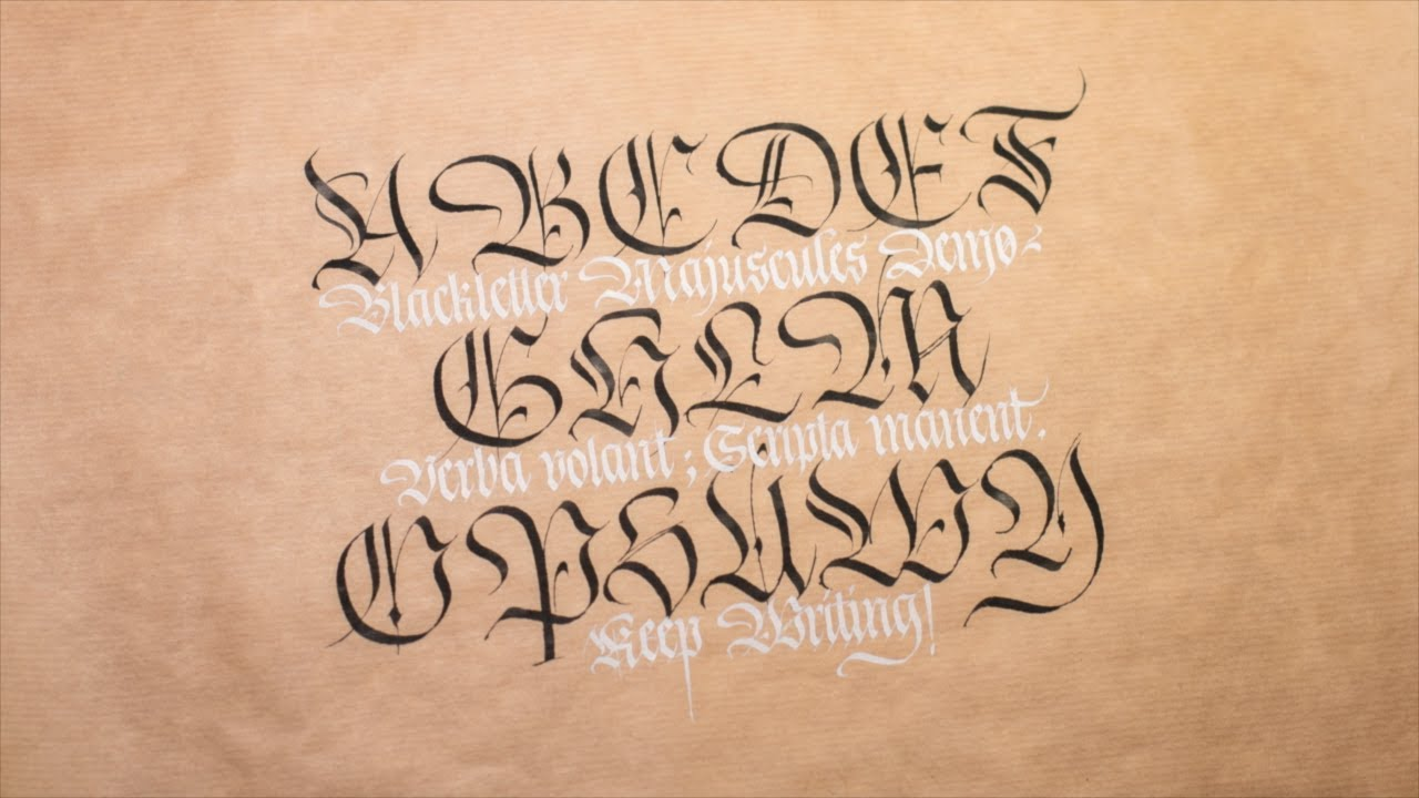 Fraktur capitals alphabet calligraphy youtube Calligraphy youtube
