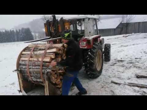 Gemeinsame Holz bündeln mit Hubgerüst - YouTube @XJ_22