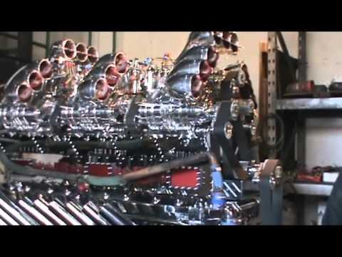 Mike Harrah And His Detroit V24 71 Diesel Engine 3424 Horse Power Youtube