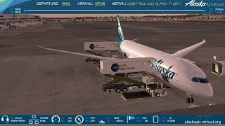 FSX-SE: Alaska Airlines | Anchorage to Phoenix | Qualitywings 787-8 | VATSIM