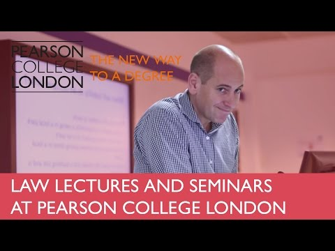 Law Lectures and Seminars at Pearson College Business School