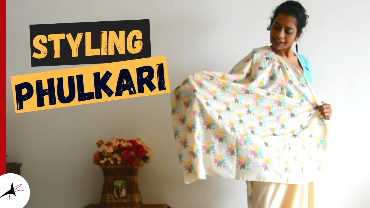 Styling Phulkari Saree For Special Occasions | Hair & Jewellery