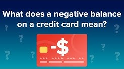What does a negative balance on a credit card mean?
