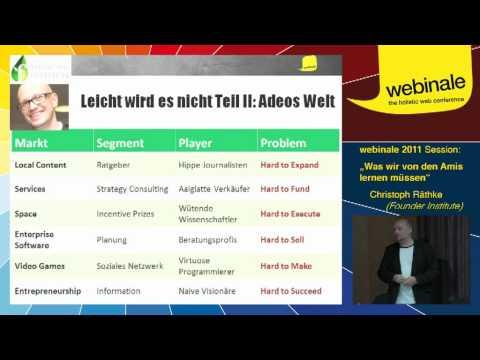 Was wir von den Amis lernen müssen - Christoph Räthke | webinale 2011