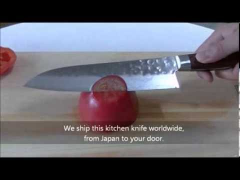 Japanese Kitchen Knife - Cut Test (1)