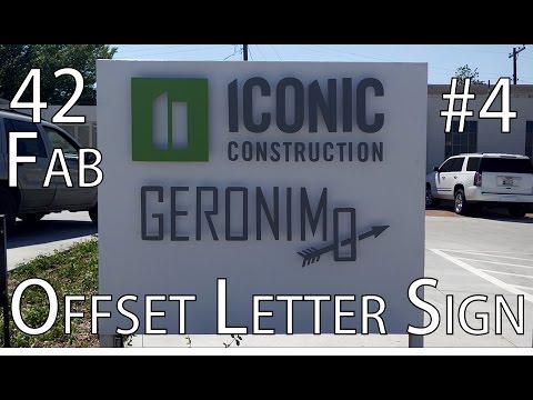 Offset Letter Sign - 42Fab #4
