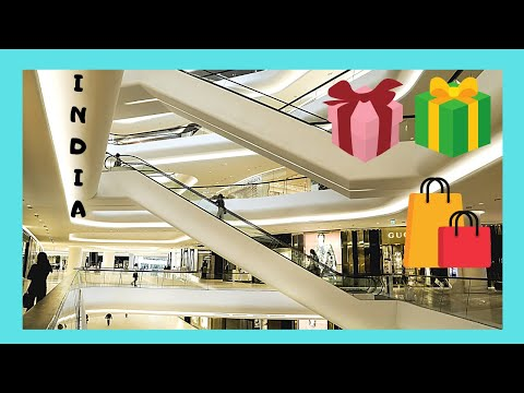 DELHI, the spectacular DLF SHOPPING MALL of INDIA, the LARGEST in the country