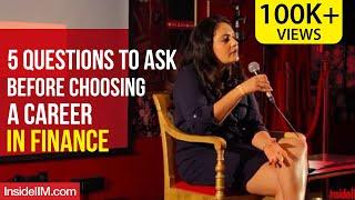 5 Questions To Ask Before Choosing A Career In Finance | Miti Vaidya, XLRI Jamshedpur Alumna
