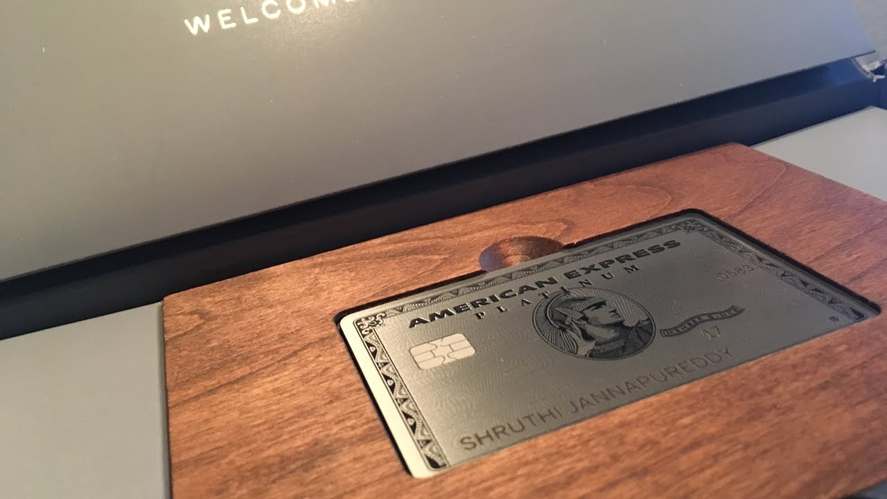 New American Express Platinum Unboxing - Metal Card - YouTube