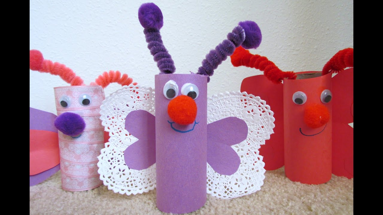 How to make a butterfly from toilet paper tube tp valentine craft how to make a butterfly from toilet paper tube tp valentine craft jeuxipadfo Choice Image